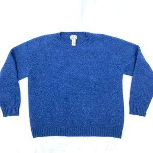 LL Bean 100% Wool Blue Sweater L